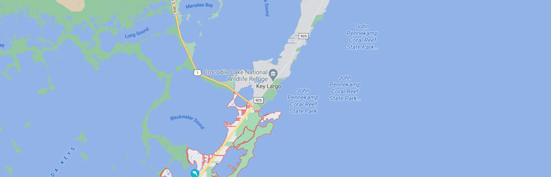 Map of Florida Ski Riders Jet Ski in Key Largo Event